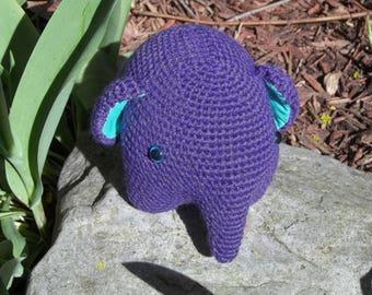 Crochet Amigurumi Elephant Plush Stuffed Animal