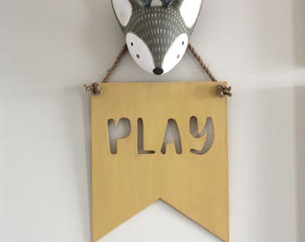 Play Sign - Play Room Decor - Playroom Decor - Playroom Sign - Playroom Art - Playroom Wall Art - Playroom Wall Decor - Kids Playroom Decor