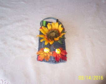 Pad Pocket with sunflower and fall leaves with notepad and pen. Free Shipping in U.S.