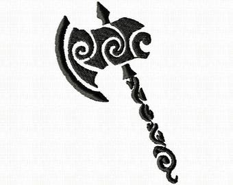 Celtic Axe  Ax  Machine embroidery design