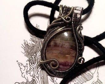 Hetti Style Fluorite Wire Wrapped Pendant