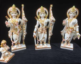 Ram Parivaar with Hanuman in marble
