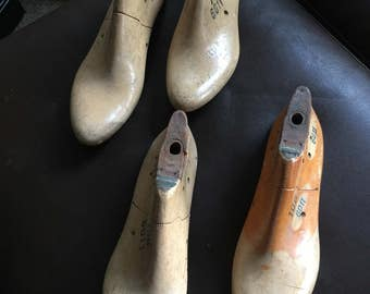 Two sets of vintage shoe forms Size 10B and 11B