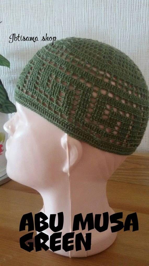 cd2430d9bf552 FREE SHIPPING coupon on Kufi hat men.Green muslim hat.Kufihat.Muslim ...