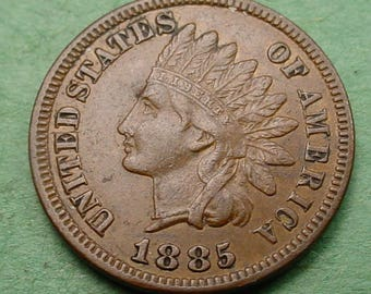 1885 Indian Head Cent   Extra Fine (NICE ) FREE Shipping In United States # ET311