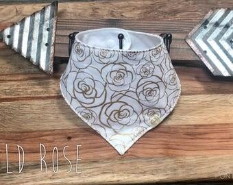 Gold Rose Bib