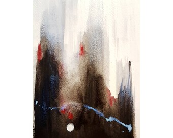 Original abstract painting expressionism modern contempory acrylic watercolour art