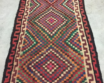 Vintage Goz Eye Turkish Kilim