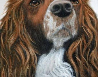 custom pet portrait, 8X10 oil on canvas
