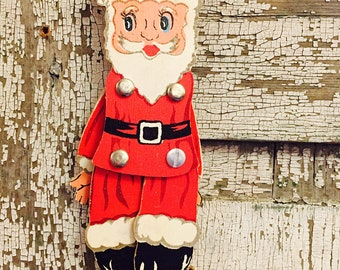 1940's Santa pull toy