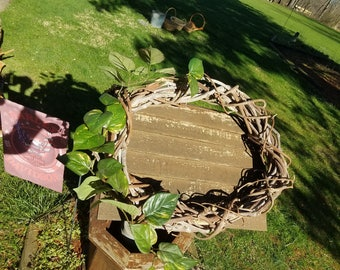 Large handmade grapevine wreath (vines from McKinley Monument, Canton, OH, 1990's)