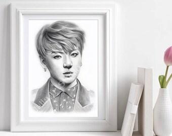 Bts-Jungkook portrait printable instant download