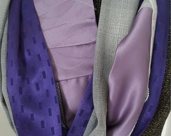 Purple and grey Women's Infinity All Daywear Scarf