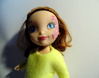 Sadie | Burn Scar Doll | Port Wine Birthmark Doll | Small Doll | Posable Doll | Toy Like Me | Play Doll | Special Friend Toy
