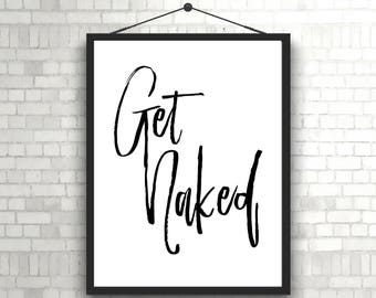 Bathroom Wall Art, Bathroom Decor, Bathroom Pictures, Bathroom Sign, Funny Bathroom Art, Powder Room Art, Bathroom Decor Wall Art Get Naked