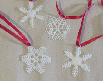 Snowflake Ornaments (Set of 4) 3D Printed!