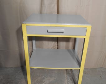 Upcycled Retro Side/End/Console Table Hand Painted In Satin (#792)