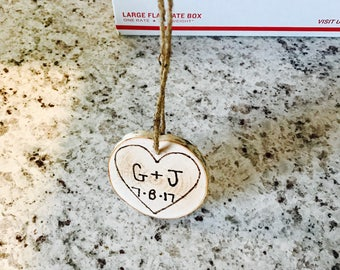 Personalized and custom birch engraved ornaments!