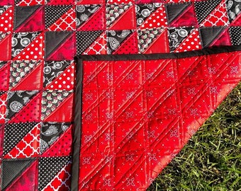 Red and Black Baby Quilt