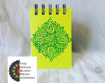 A7 Henna Square Print Notebook PP Cover