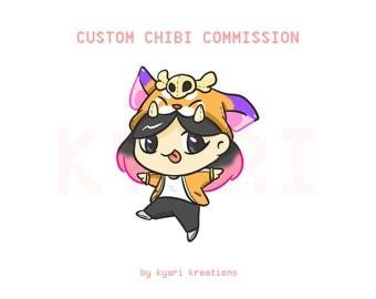 Custom Chibi Commission by Kyari Kreations