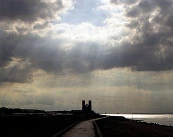 Reculver Towers Fine Art Blank Photographic Greetings Card Card & Print