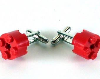 Round LEGO Brick Cufflinks