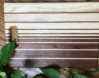 One-of-a-Kind Striped Cutting Board