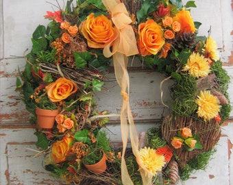 Flower wreath handmade wreath wreaths