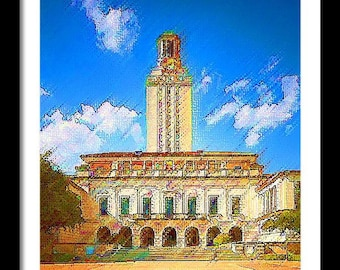 University of Texas Limited Edition Print