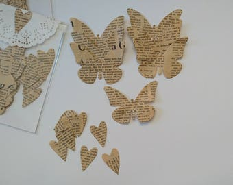 Die cuts - Butterflies and Hearts