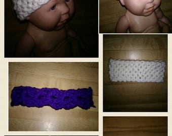 Baby girl headbands crocheted headbands