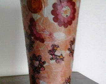 Terracotta deocore of flowers vase