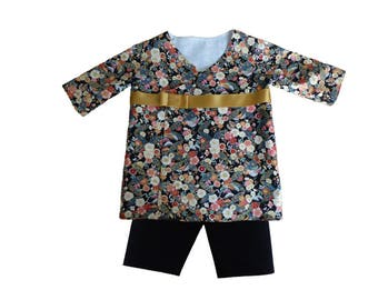 Baby girl or boy clothing / garment Asian / Kimono and his pants for baby / 9 months