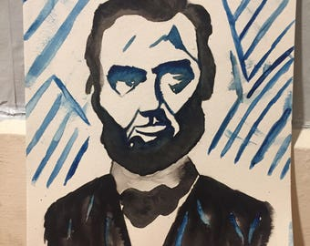 Abe Lincoln Watercolor
