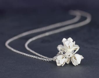 925 Silver necklace infinite rose small