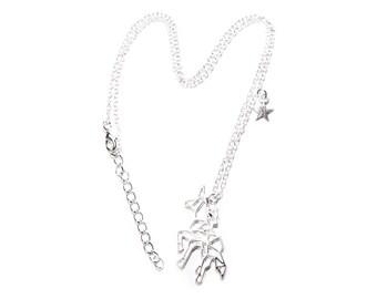 Unicorn necklace | Polygon origami