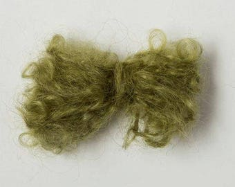 Yarn Pack 10 Balls Brushed Kid Mohair, Olive Green, 500g / 17.6oz, Hand dyed Mohair, Mohair Yarn Pack, Brushed Mohair, Bulk, Hand Dyed Yarn