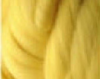 Australian Merino Wool Roving. 3 inch stitch. One pound each. (Yellow)