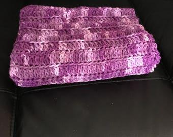 Baby Blanket- Purple Tones