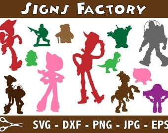 toy story silhouette / Toy story / toy story clipart / toy story SVG / andy , sheriff , buzz, woody, rex / High Quality / EPS / PNG Dxf