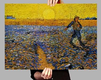 Poster 50x70 cm The Sower - Vincent van Gogh Digital