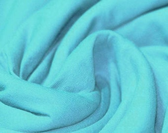 Turquoise Jersey (240gsm, 94/6 Cotton/Elastane) *UK*