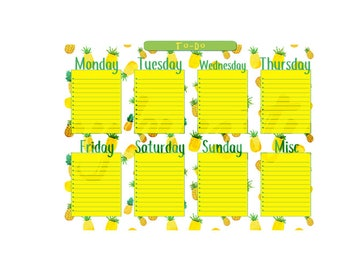 Pineapple Weekly To-Do Printable