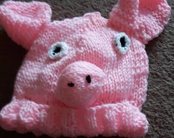 Pig Hat  (adult size)