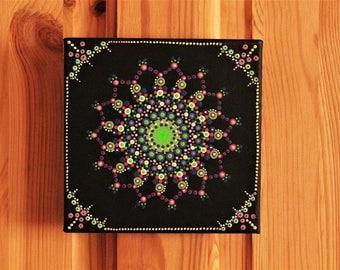 UV psychedelic mandala canvas