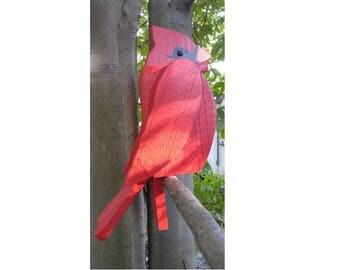 Cardinal Birdhouse Amish handmade