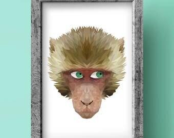 Monkey Print - Geometric art - Original design - Animal print
