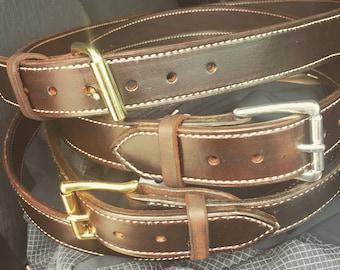 Custom Double Layer Leather Gun Belt