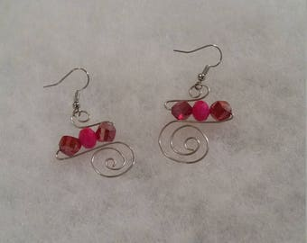 Silver spiraled earrings